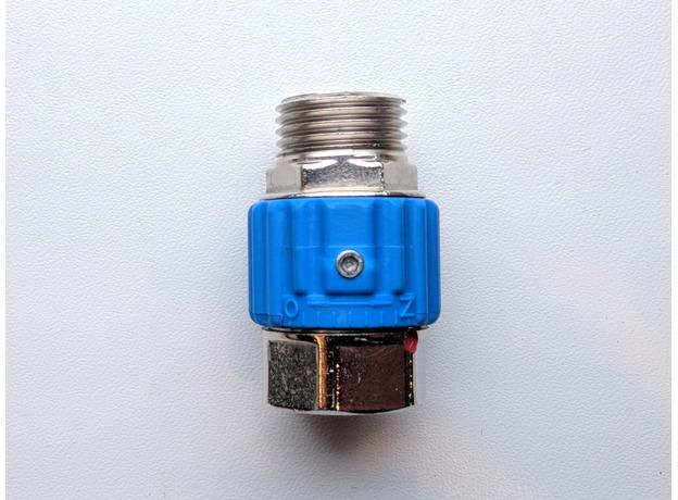 """Керамический кран Aquacer Bloker 1/2"""", синий"""
