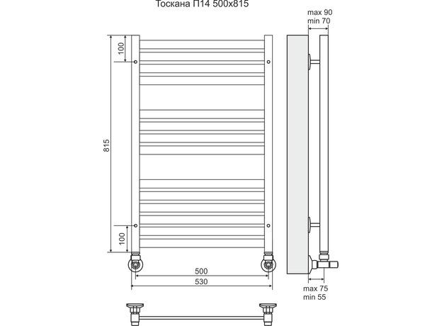Полотенцесушитель Terminus Тоскана П14 530х815