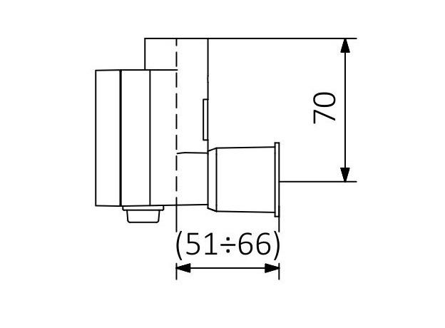 ТЭН для полотенцесушителя Terma KTX 3, хром, скрытый монтаж