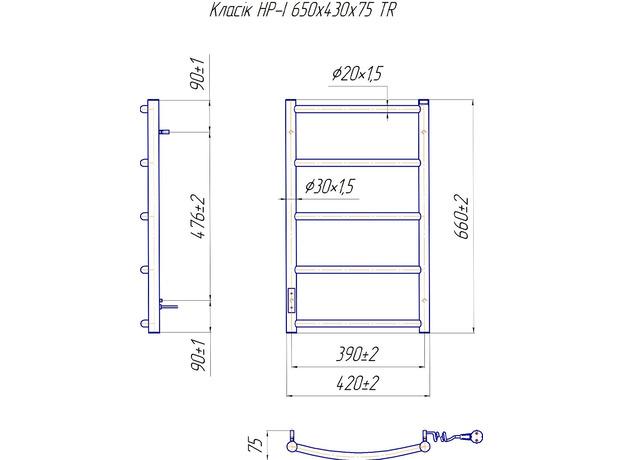 Электрический Mario Классик НР-ITR 650x430, регулятор и таймер