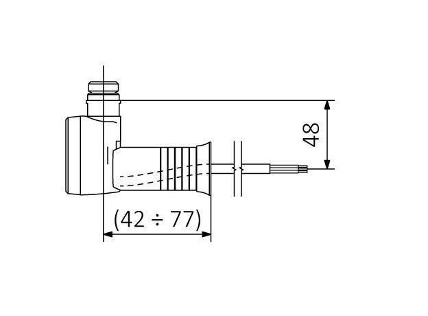 ТЭН для полотенцесушителя Terma MEG 1.0, хром, скрытый монтаж