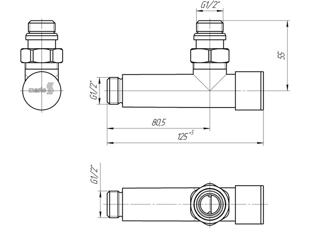 """Кран угловой удлиненный, G1/2"""" комплект 2шт"""