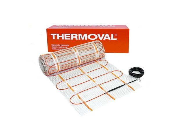 Нагревательный мат Thermoval двухжильный (теплый пол) 1 м.кв. 170 Вт